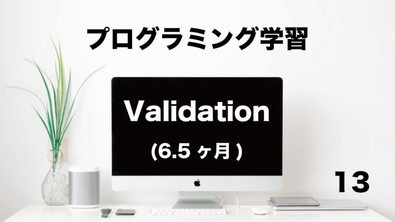 プログラミング学習「Validation」6.5ヶ月 (No.13)