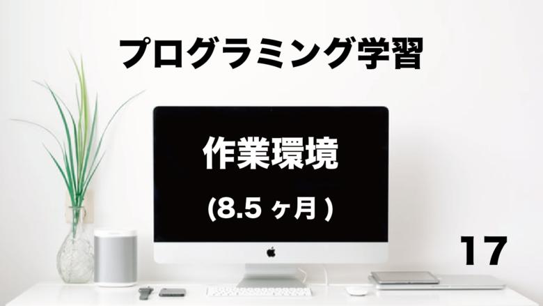 プログラミング学習「作業環境」8.5ヶ月 (No.17)
