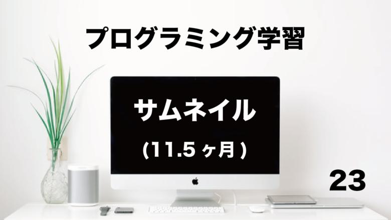 プログラミング学習「サムネイル」11.5ヶ月 (No.23)